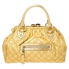 Marc Jacobs Metallic Gold Leather Stam Satchel