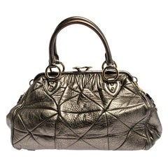 Marc Jacobs Metallic Quilted Leather Stam Shoulder Bag