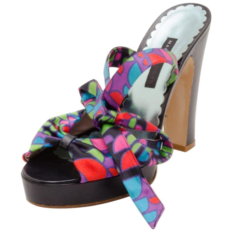 5ce15104b160 Marc Jacobs Multicolor Printed Sandals Size 38 For Sale at 1stdibs