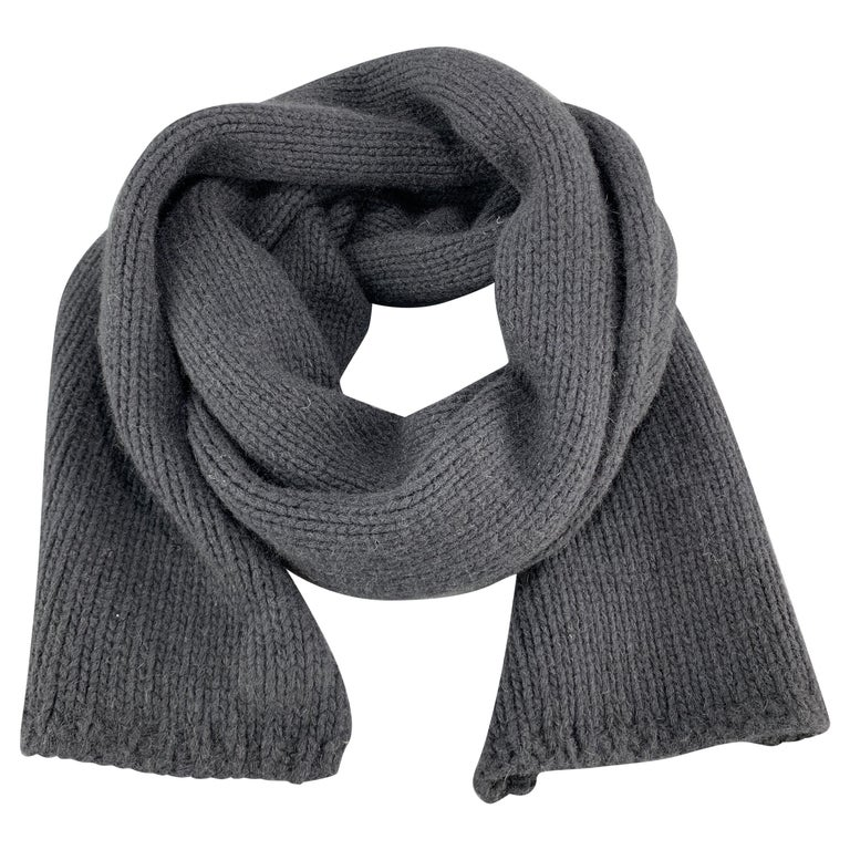 MARC JACOBS Navy Cashmere Scarf For Sale