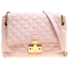 Marc Jacobs Pink Quilted Leather Baroque Shoulder Bag