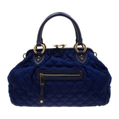 Marc Jacobs Purple Quilted Fabric Stam Shoulder Bag