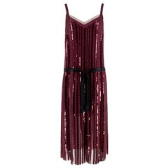 Marc Jacobs Purple Sequin Embroidered Dress M 8