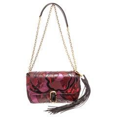 Marc Jacobs Red J Snake Patchwork Shoulder Bag