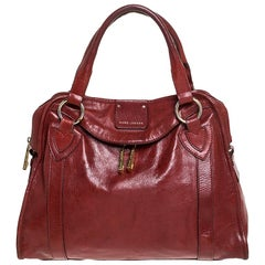 Marc Jacobs Red Leather Wellington Fulton Satchel