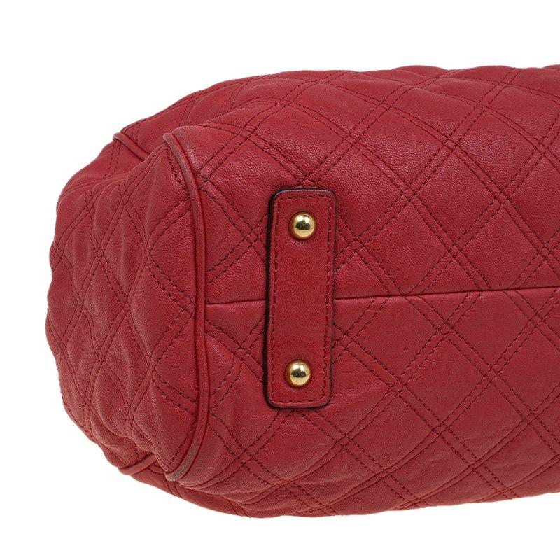 Marc Jacobs Red Quilted Leather Stam Shoulder