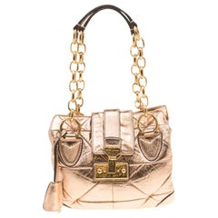Marc Jacobs Rose Gold Quilted Leather Shoulder Bag