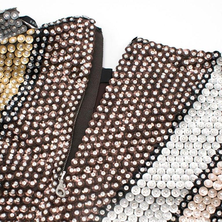 Women's Marc Jacobs Sequin Studded Shift Dress US 6 For Sale