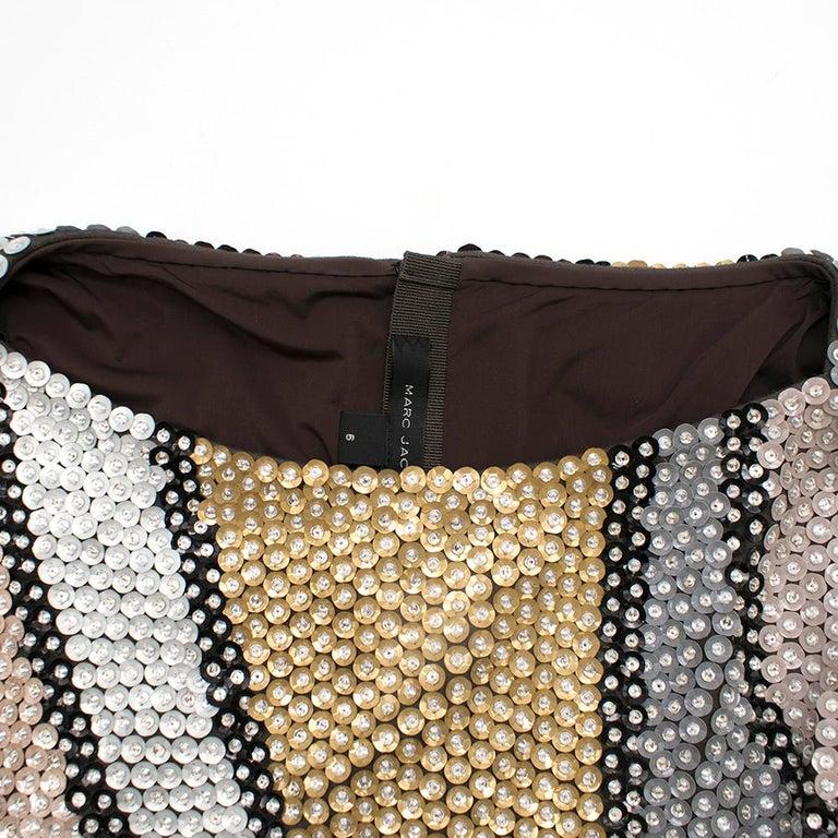 Marc Jacobs Sequin Studded Shift Dress US 6 For Sale 1