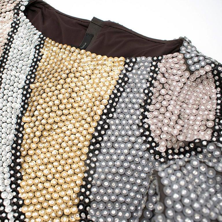 Marc Jacobs Sequin Studded Shift Dress US 6 For Sale 3