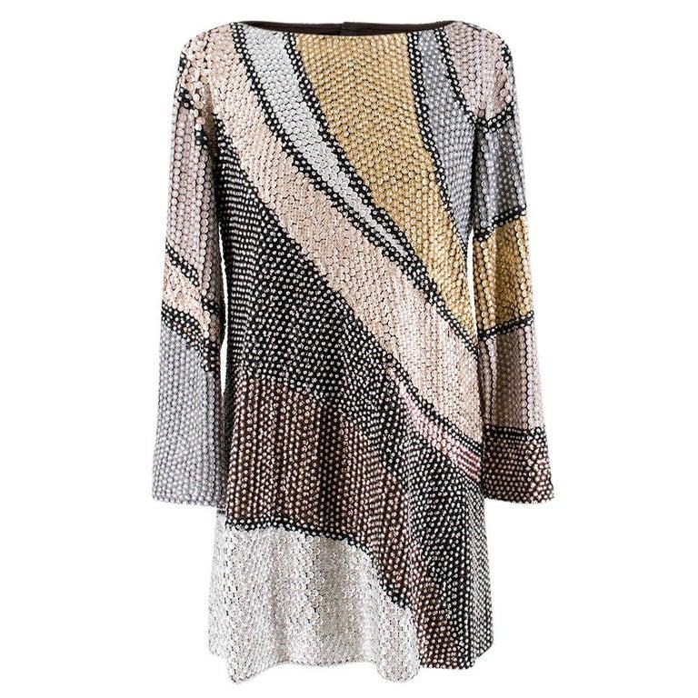 Marc Jacobs Sequin Studded Shift Dress US 6 For Sale
