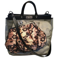 Marc Jacobs Sheer Net and Lace Large Duffy Frog Tote