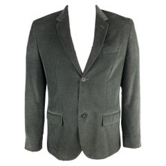 MARC JACOBS Size 40 Forest Green Textured Corduroy Notch Lapel Sport Coat