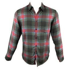 MARC JACOBS Size XS Multi-Color Plaid Viscose Button Up Long Sleeve Shirt