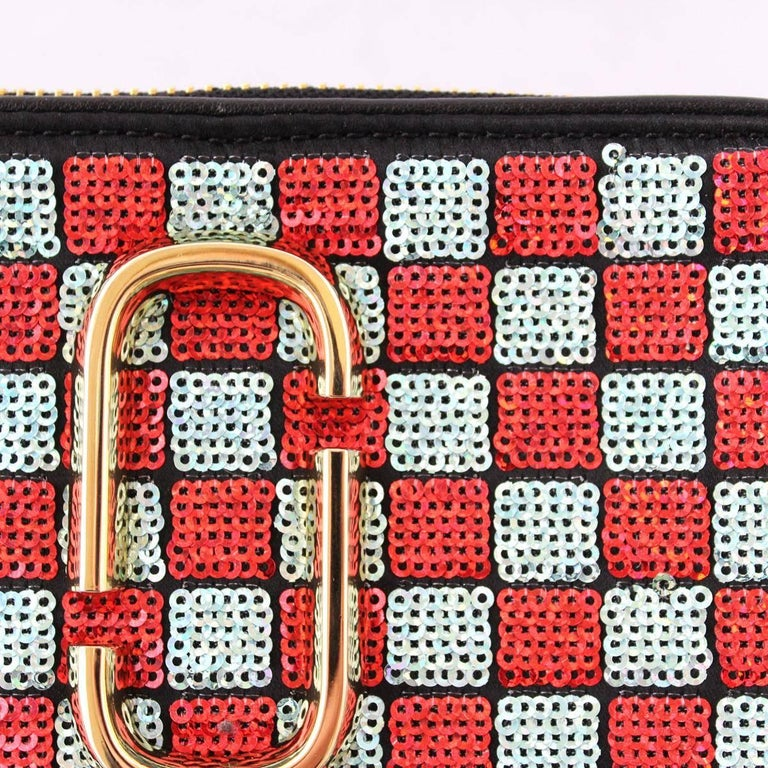 Women's Marc Jacobs Snapshot Sequins Checkered Small Camera Bag For Sale