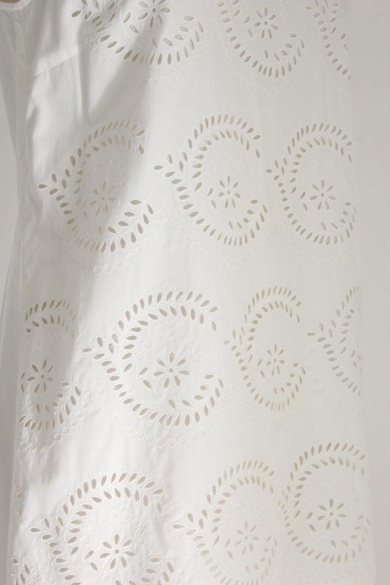 Women's Marc Jacobs White Cotton Lace Floral Marshmallow A Line Summer Dress  For Sale