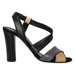 Marc Jacobs Woman Sandals Beige Leather IT 38