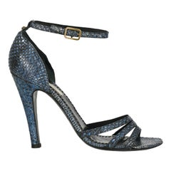 Marc Jacobs Woman Sandals Navy Leather IT 39