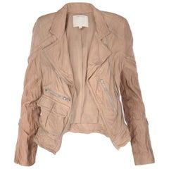 Marc Jacobs Wrinkled Leather Biker Jacket