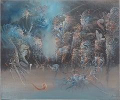 Surrealist Seascape - Original Oil on Canvas, Handsigned