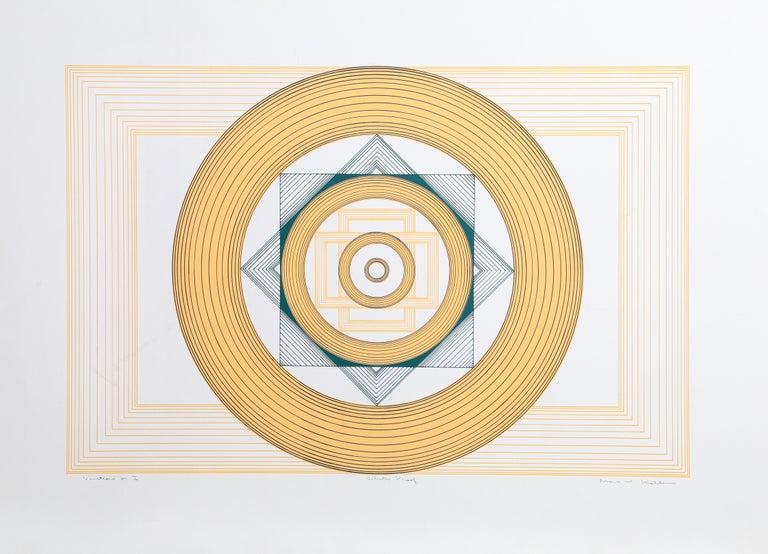 Marc Koller Abstract Print - Variations on I