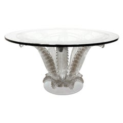 "Marc Lalique ""Cactus Table"" in Clear Crystal 1985 (signed)"