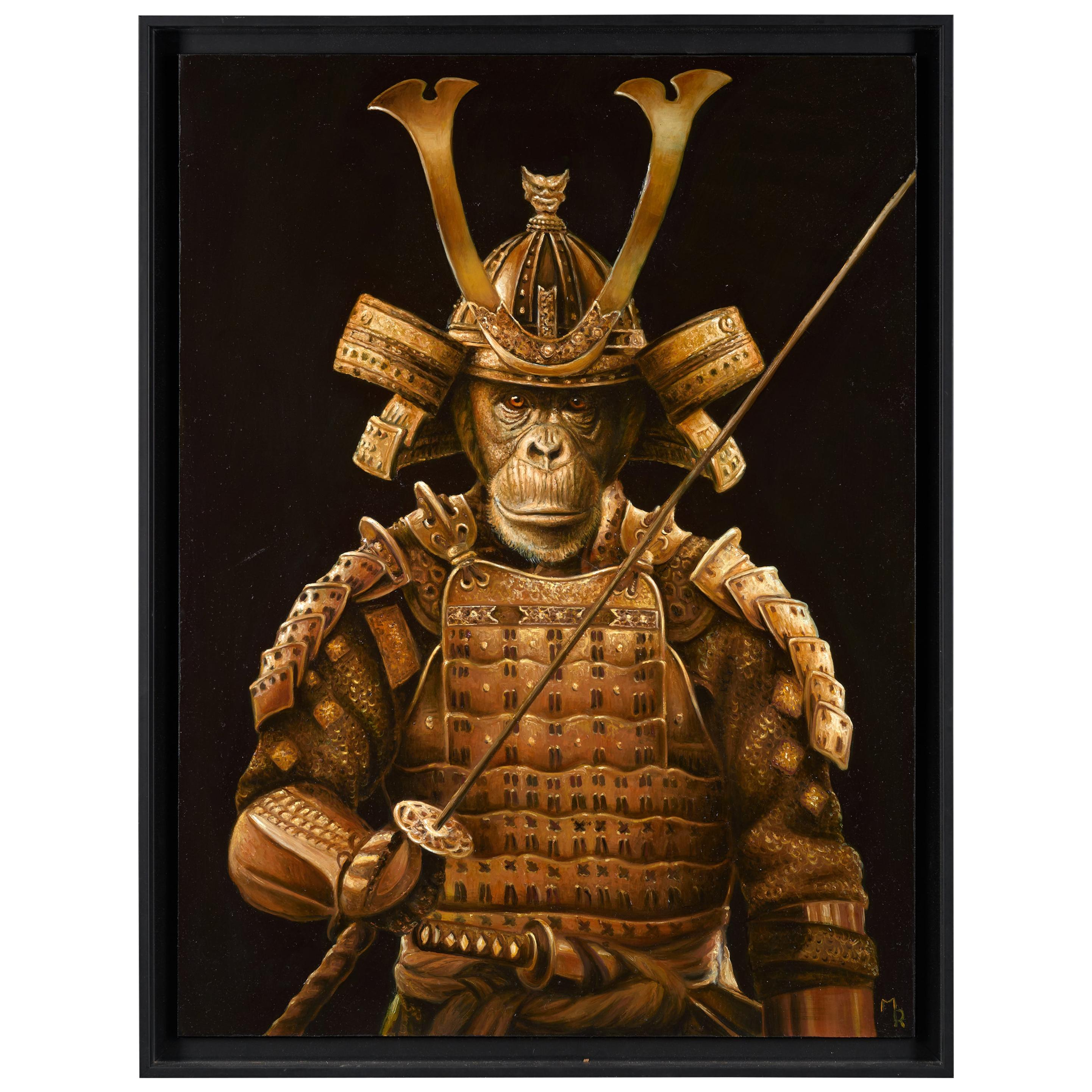 Marc Le Rest (1970-), Samurai Tokugawa, Oil on Canvas, Framed, Signed, Dated