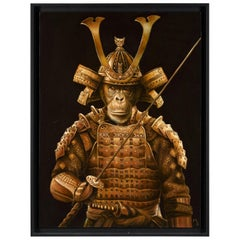 Marc Le Rest (1970-), Samurai Tokugawa, Oil on Canvas, Framed, Signed and Da
