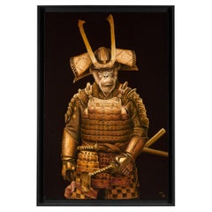 Marc Le Rest, Samurai Akechi, Oil on Canvas, Framed, Signed and Dated 2018