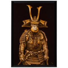 Marc Le Rest, Samurai Tomoe, Oil on Canvas, Framed, Signed and Dated