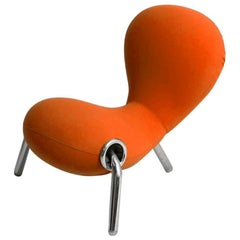 Marc Newson Embyro Armchair in Orange Fabric Upholstery by Cappellini