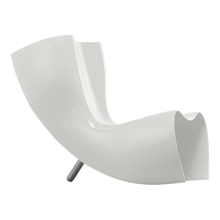 For Sale: White (806_white) Marc Newson Felt Armchair in Fiberglass Shell with Glossy Finish for Cappellini
