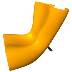 Marc Newson Felt Chair in Yellow Fiberglass Shell