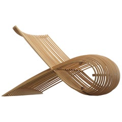 Marc Newson Wooden Armchair in Beech Heartwood for Cappellini