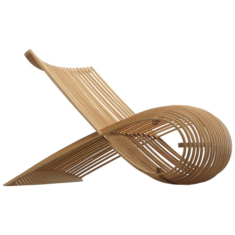 Marc Newson Wooden Armchair in Beech Heartwood for Cappellini For Sale