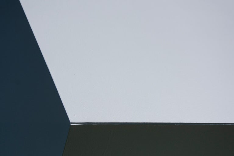 Chute des Cubes 3/10 - geometric, aluminum, white, large outdoor sculpture For Sale 7