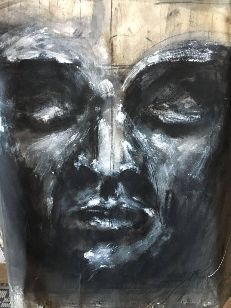 Meditation Meditacio mixed on canvas85 x 95