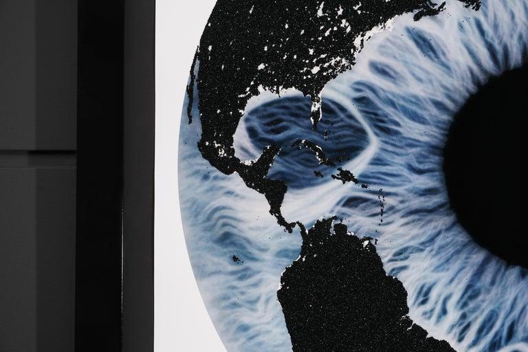 Marc Quinn, 'Iris' with Diamond Dust, Blue/Black, 2019 For Sale 1