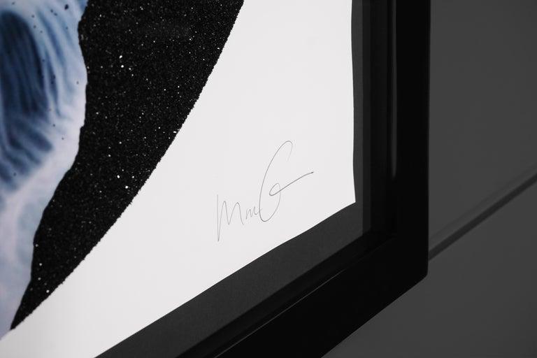 Marc Quinn, 'Iris' with Diamond Dust, Blue/Black, 2019 For Sale 3