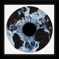 Marc Quinn, 'Iris' with Diamond Dust, Blue/Black, 2019