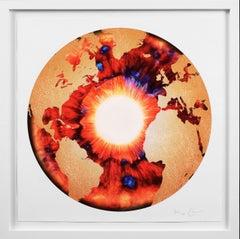 Marc Quinn, 'Iris' with Diamond Dust, Red/Gold, 2020