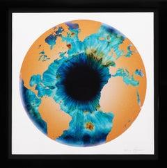 Marc Quinn, 'Iris' with Diamond Dust, Turquoise/Gold, 2020