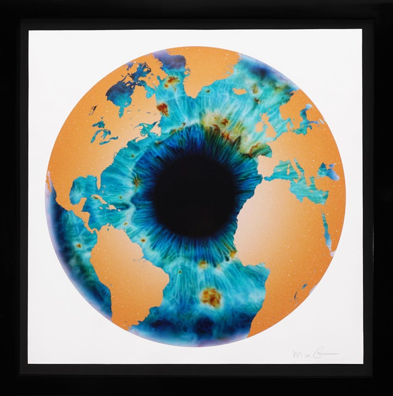 Marc Quinn, 'Iris' with Diamond Dust, Turquoise/Gold, 2020 - Print by Marc Quinn