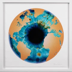 Marc Quinn, 'Iris' with Diamond Dust, Turquoise/Gold, 2020