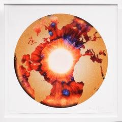 Red/Gold 'Iris' with Diamond Dust, 2020