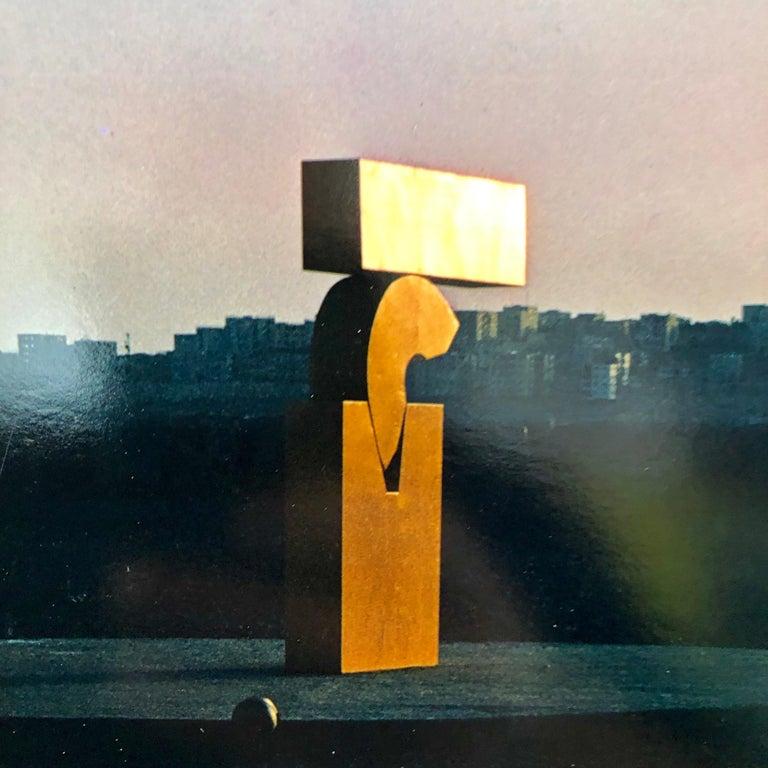 Vintage Color Photograph Kadishman Sculpture Jerusalem Museum Marc Riboud Photo For Sale 2