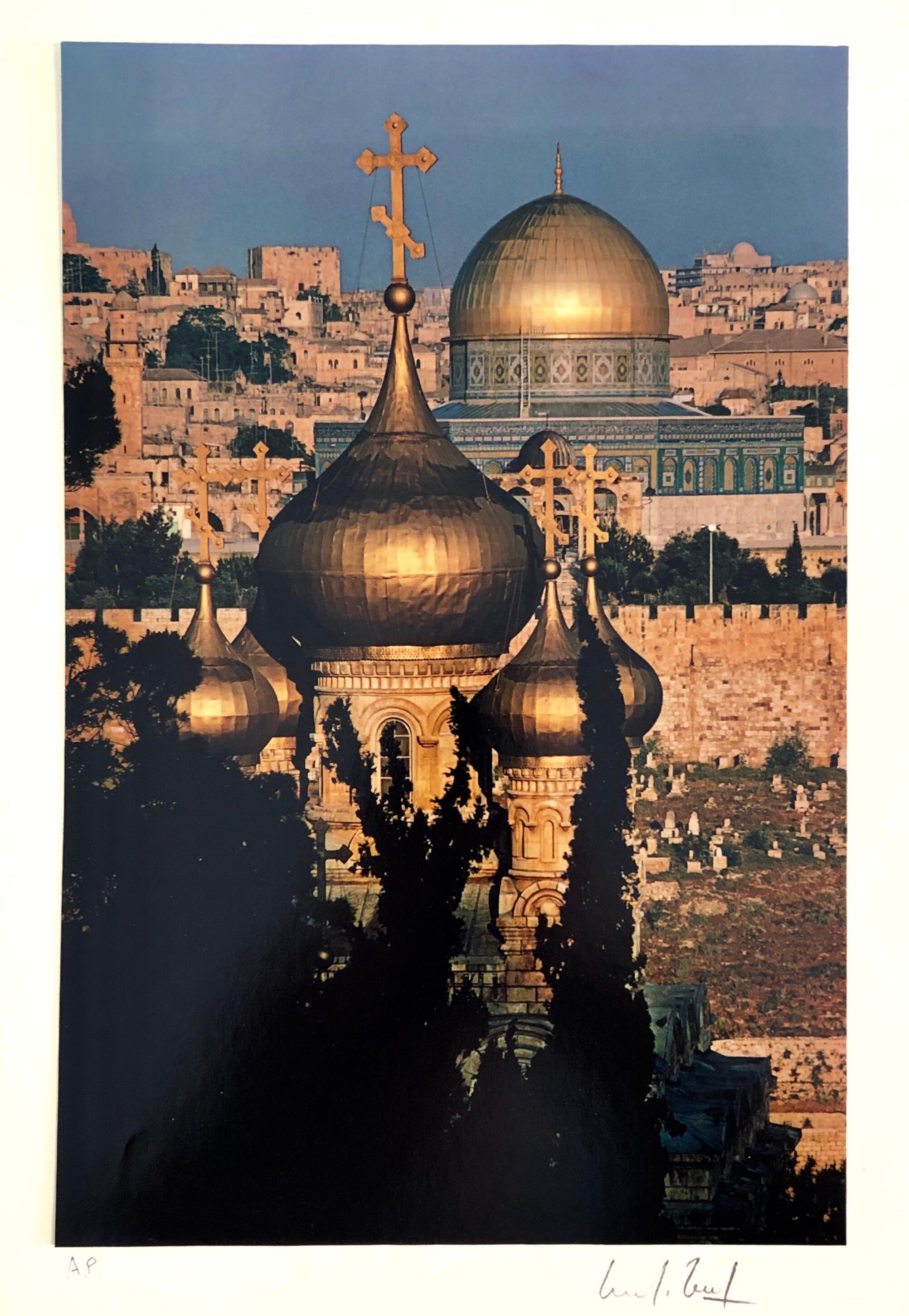 Vintage Color Photograph Old City Jerusalem Temple Mount Marc Riboud Photo 1973