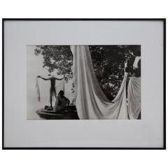 "Marc Riboud ""Benares, India"" Gelatin Silver Print Signed in Pencil"