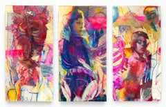 This is Not a Riot, Mixed media layered resin painting