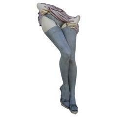 """Dancing Legs"" Hyper Realistic Plaster Wall Sculpture"